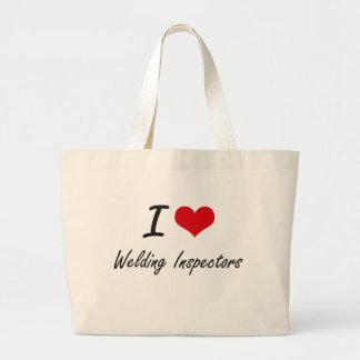 I love Welding Inspectors Jumbo Tote Bag