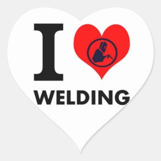 I love Welding Stickers