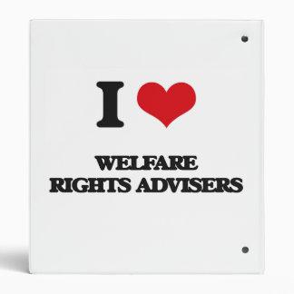 I love Welfare Rights Advisers Vinyl Binder