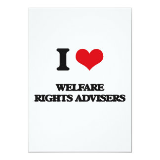 I love Welfare Rights Advisers Personalized Announcement