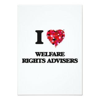 I love Welfare Rights Advisers 5x7 Paper Invitation Card