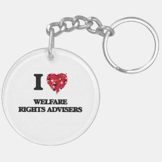 I love Welfare Rights Advisers Double-Sided Round Acrylic Keychain
