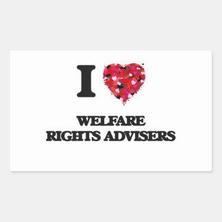 I love Welfare Rights Advisers Rectangular Sticker