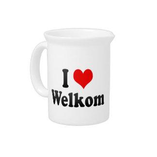 I Love Welkom, South Africa Beverage Pitcher