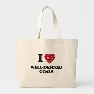 I love Well-Defined Goals Jumbo Tote Bag