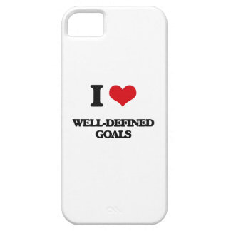 I love Well-Defined Goals iPhone 5 Cover