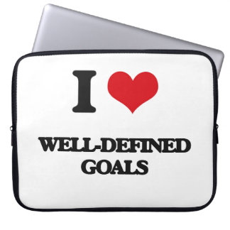 I love Well-Defined Goals Laptop Sleeve