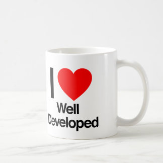 i love well developed coffee mug