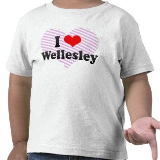 I Love Wellesley, United States Tee Shirts