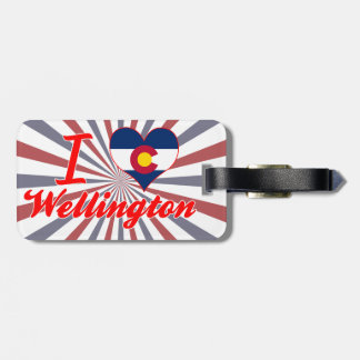 I Love Wellington, Colorado Travel Bag Tags