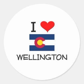 I Love WELLINGTON Colorado Stickers