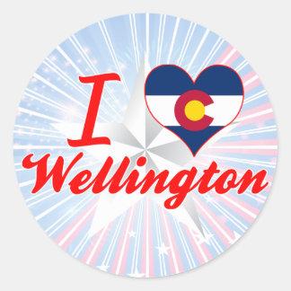 I Love Wellington, Colorado Sticker