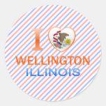 I Love Wellington, IL Stickers