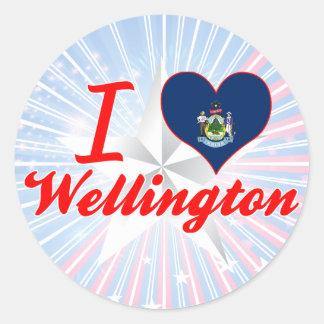 I Love Wellington, Maine Round Stickers