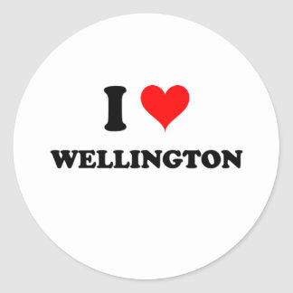 I Love Wellington Maryland Round Sticker