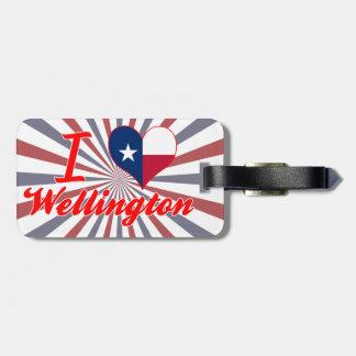 I Love Wellington, Texas Travel Bag Tag