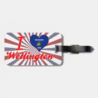 I Love Wellington, Wisconsin Travel Bag Tag