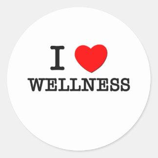 I Love Wellness Classic Round Sticker