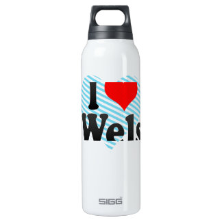 I Love Wels, Austria 16 Oz Insulated SIGG Thermos Water Bottle