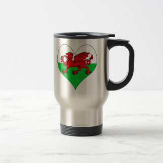 I Love Welsh 15 Oz Stainless Steel Travel Mug