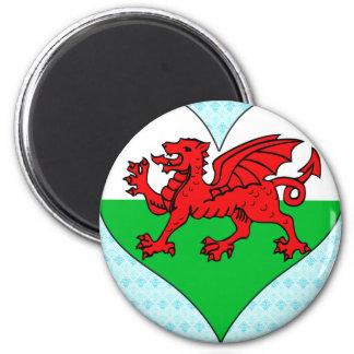 I Love Welsh 2 Inch Round Magnet
