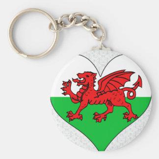 I Love Welsh Basic Round Button Keychain