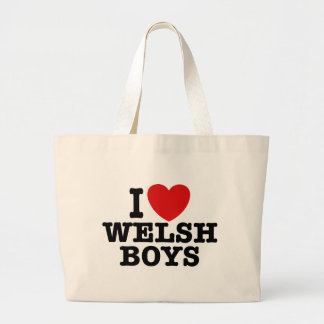 I Love Welsh Boys Canvas Bags