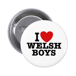 I Love Welsh Boys Pinback Button