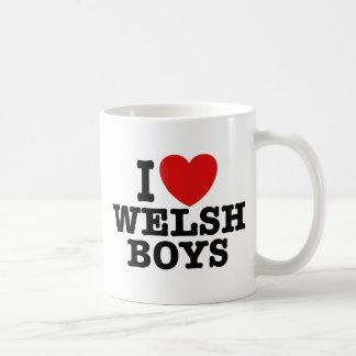I Love Welsh Boys Coffee Mugs