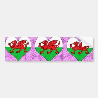 I Love Welsh Car Bumper Sticker