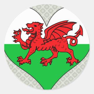 I Love Welsh Classic Round Sticker