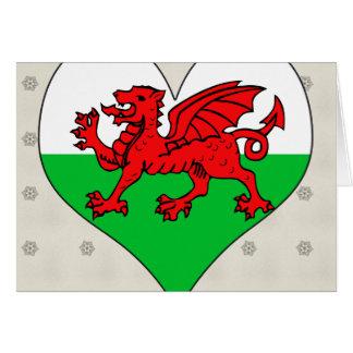 I Love Welsh Greeting Card