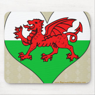I Love Welsh Mouse Pad