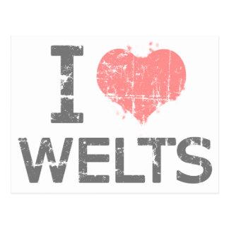 I Love Welts Postcard