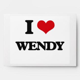 I Love Wendy Envelope