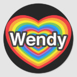 I love Wendy. I love you Wendy. Heart Stickers