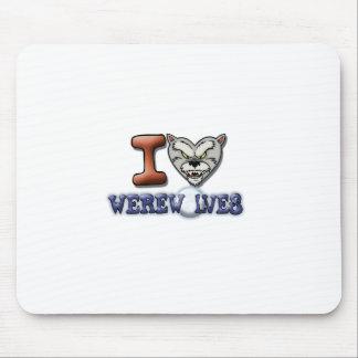 I Love Werewolves Mousepads