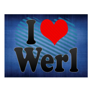 I Love Werl, Germany Postcard