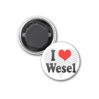 I Love Wesel, Germany. Ich Liebe Wesel, Germany Magnet