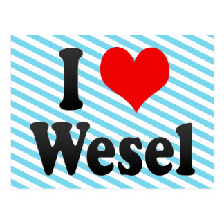I Love Wesel, Germany. Ich Liebe Wesel, Germany Postcard