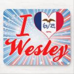 I Love Wesley, Iowa Mousepads