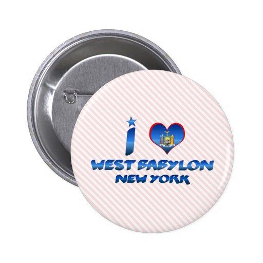 I love West Babylon, New York 2 Inch Round Button