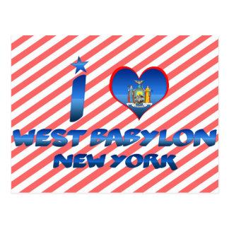 I love West Babylon, New York Postcard