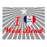I Love West Bend, Iowa Postcard
