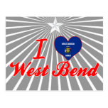 I Love West Bend, Wisconsin Post Card