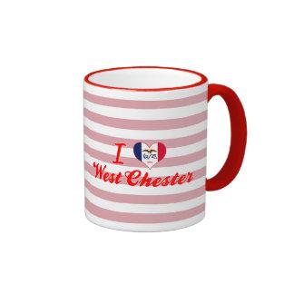I Love West Chester, Iowa Ringer Coffee Mug