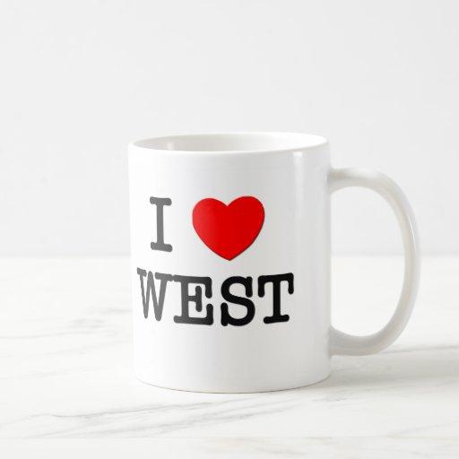 I Love West Classic White Coffee Mug