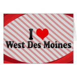I Love West Des Moines, United States Stationery Note Card