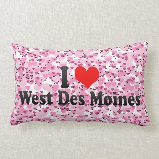 I Love West Des Moines, United States Pillows