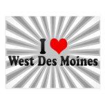 I Love West Des Moines, United States Postcard